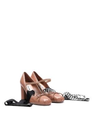 Miu Miu: court shoes online - Nappa leather pumps