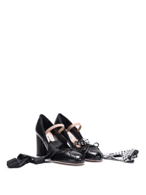 Miu Miu: court shoes online - Ribbon leather pumps