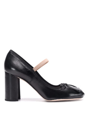 Miu Miu: court shoes - Ribbon leather pumps