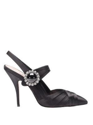 Miu Miu: court shoes - Satin Mary Jane