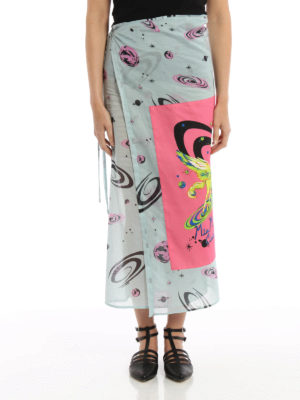 Miu Miu: cover-ups online - Constellation print sarong skirt