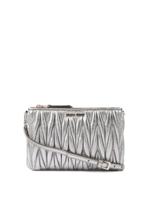 Miu Miu: cross body bags - Double zip matelassé crossbody
