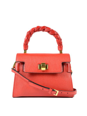 Miu Miu: cross body bags - Madras leather handbag