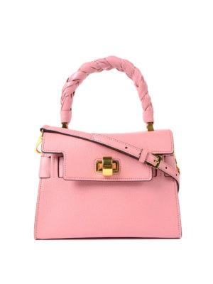 Miu Miu: cross body bags - Madras leather structured handbag