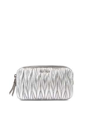Miu Miu: cross body bags - Matelassé leather cross body bag