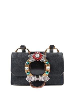 Miu Miu: cross body bags - Miu Lady Bag jewel cross body bag