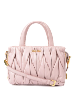 Miu Miu: cross body bags - Miu Mega matelassé leather bag