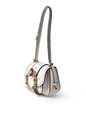Miu Miu: cross body bags online - Dahlia jeweled buckle small bag