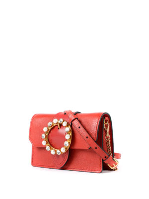 Miu Miu: cross body bags online - Jewel buckled leather crossbody