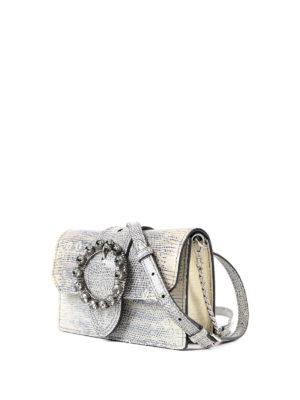 Miu Miu: cross body bags online - Jewel buckled leather crossbody