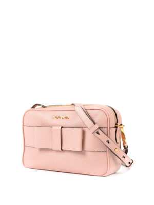 Miu Miu: cross body bags online - Leather crossbody with bow