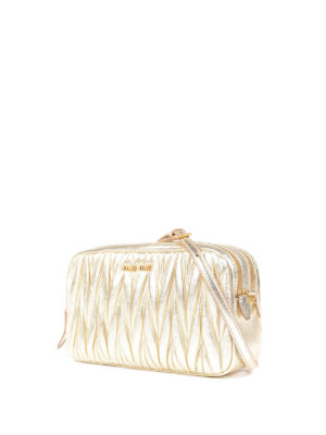 Miu Miu: cross body bags online - Matelassé leather cross body bag
