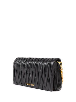 Miu Miu: cross body bags online - Matelassé leather crossbody