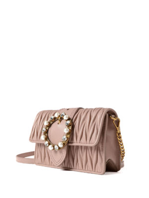Miu Miu: cross body bags online - Matelassé leather jewel crossbody