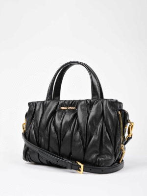 Miu Miu: cross body bags online - Miu Mega matelassé leather bag