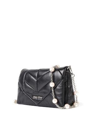 Miu Miu: cross body bags online - Quilted nappa cross body bag