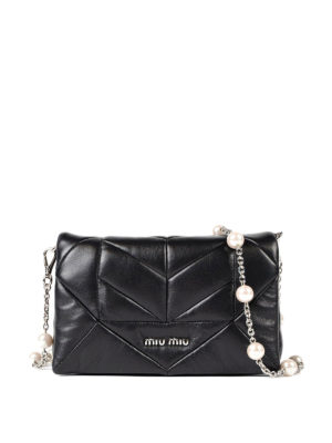 Miu Miu: cross body bags - Quilted nappa cross body bag
