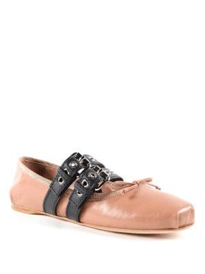 Miu Miu: flat shoes online - Straps and ribbons flat shoes