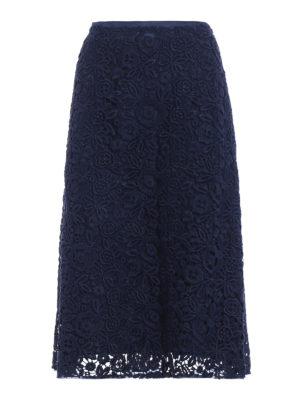 Miu Miu: Knee length skirts & Midi - Tech floral broderie anglaise skirt