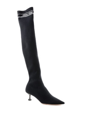 MIU MIU: stivali online - Boots a calza stretch H55