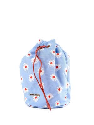 MIU MIU: Secchielli online - Secchiello in nylon azzurro stampa margherite