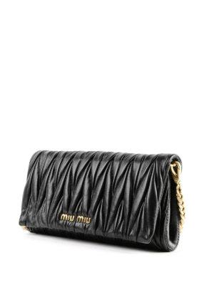 MIU MIU: pochette online - Piccola borsa in nappa matelassé