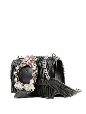 MIU MIU: borse a tracolla online - Tracollina gioiello Miu Lady nappa matelassé