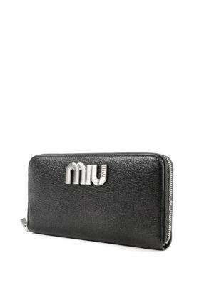 MIU MIU: portafogli online - Portafoglio continental in pelle con logo