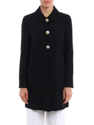 Miu Miu: short coats online - Jewel cady overcoat