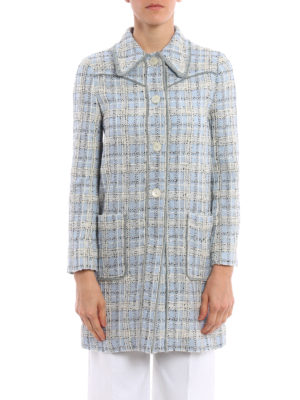 Miu Miu: short coats online - Springtime tweed overcoat