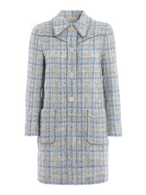 Miu Miu: short coats - Springtime tweed overcoat