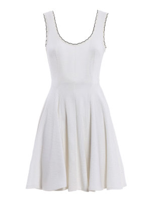Miu Miu: short dresses - Jersey sleeveless flared dress