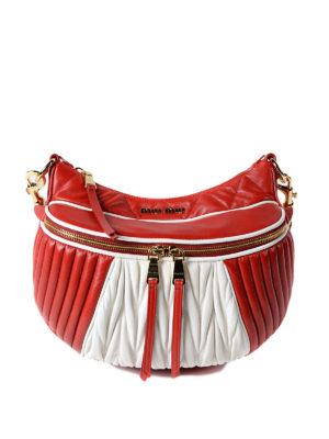 Miu Miu: shoulder bags - Bicolour matelassé nappa bag