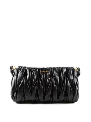 Miu Miu: shoulder bags - Matelassé leather bag