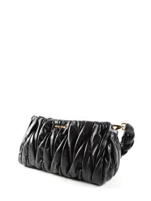 Miu Miu: shoulder bags online - Matelassé leather bag