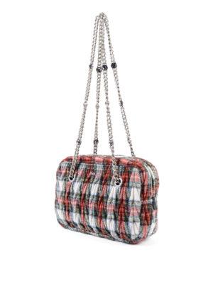 Miu Miu: shoulder bags online - Matelassé tartan bag