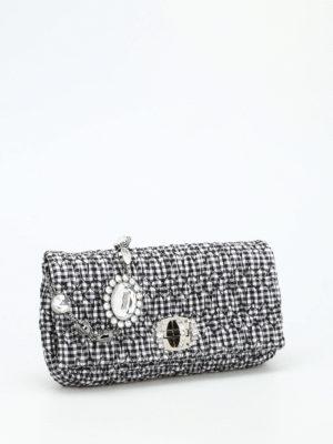 Miu Miu: shoulder bags online - Maxi rhinestones gingham bag