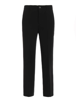 Miu Miu: Tailored & Formal trousers - Wide leg detail cady trousers