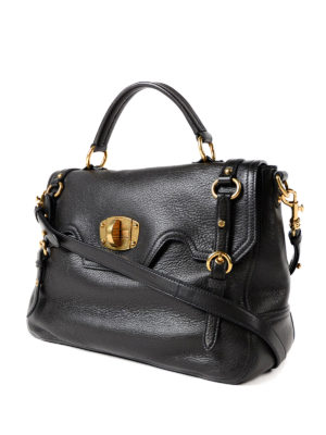 Miu Miu: totes bags online - Leather bag with turn-lock closure