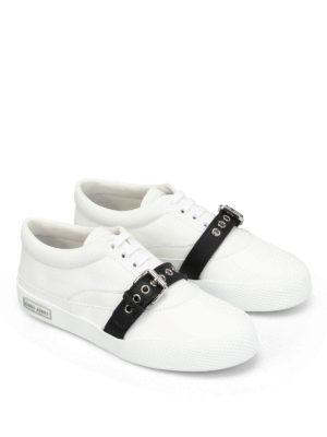 Miu Miu: trainers online - Contrasting buckle napa sneakers