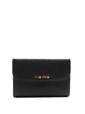 Miu Miu: wallets & purses - Madras leather wallet