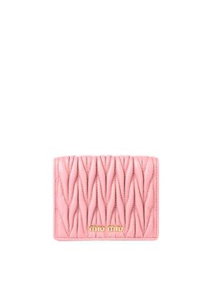Miu Miu: wallets & purses - Matelassé leather wallet