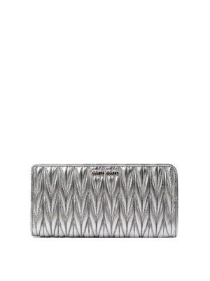 Miu Miu: wallets & purses - Matelassé leather zipped wallet