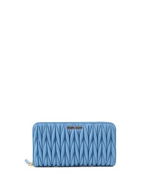 Miu Miu: wallets & purses - Matelassé zipped wallet
