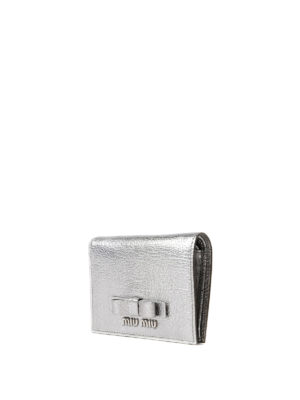 Miu Miu: wallets & purses online - Bow detail leather bifold wallet