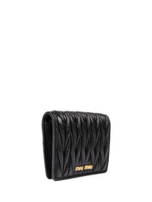 Miu Miu: wallets & purses online - Matelassé leather wallet