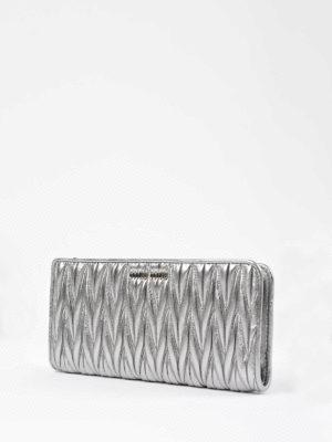 Miu Miu: wallets & purses online - Matelassé leather zipped wallet