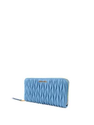 Miu Miu: wallets & purses online - Matelassé zipped wallet