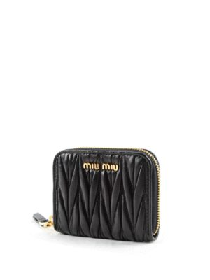 Miu Miu: wallets & purses online - Quilted leather wallet