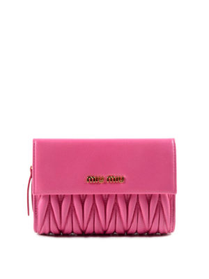 Miu Miu: wallets & purses - Quilted leather wallet